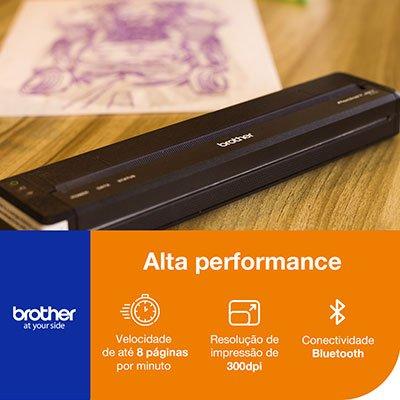 Impressora Térmica Portátil PJ763 Bluetooth - Brother CX 1 UN