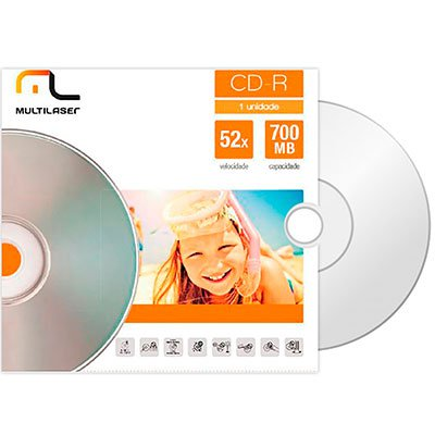 Cd-r gravável (80min/700mb)52x envelope CD006 Multilaser PT 1 UN