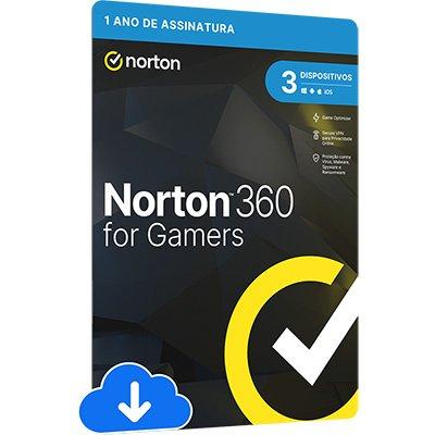 Norton Antivírus Security Gamer 3 dispositivos, Licença 12 meses, NortonLifeLock - UN 1 UN
