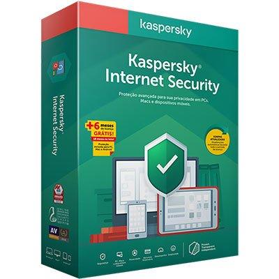 Kaspersky Antivírus Internet Security para 1 dispositivo 18 meses PT 1 UN