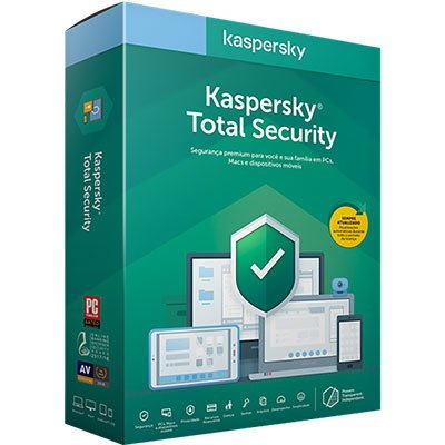 Kaspersky Antivírus Total Security para 3 dispositivos 12 meses PT 1 UN