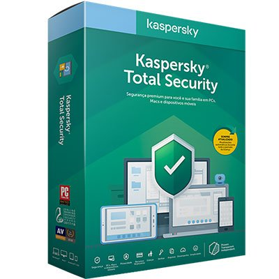 Kaspersky Antivírus Total Security para 10 dispositivos 12 meses PT 1 UN