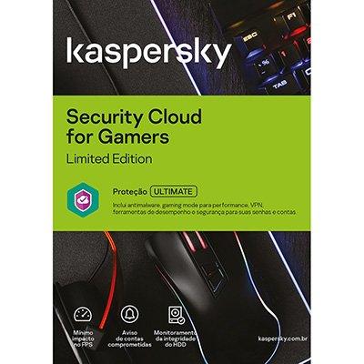 Kaspersky Antivírus Cloud for Gamers 1 dispositivo, Licença 12 meses, Digital para Download - UN 1 UN