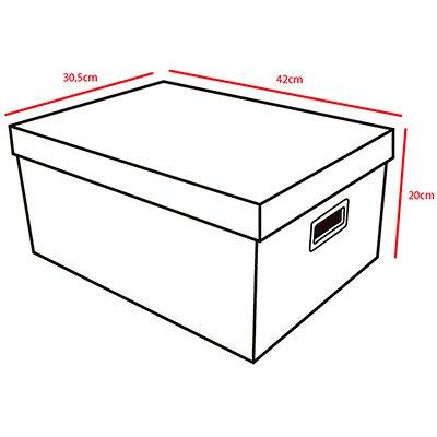 Caixa organizadora closet G arabesco nude 42x30,5x20 Boxgraphia PT 1 UN