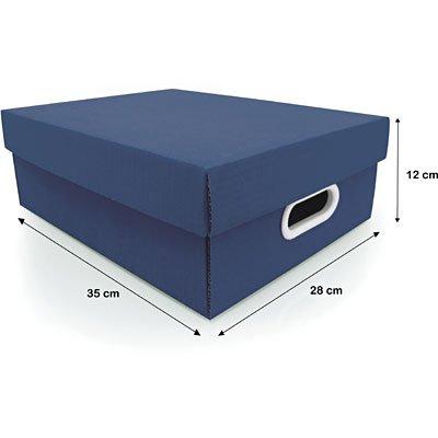 Caixa organizadora Stok azul petróleo 37x29x13 Boxgraphia PT 1 UN