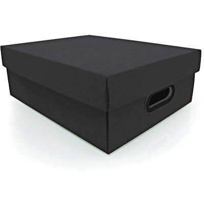 Caixa organizadora Stok preta 37x29x13 Boxgraphia PT 1 UN