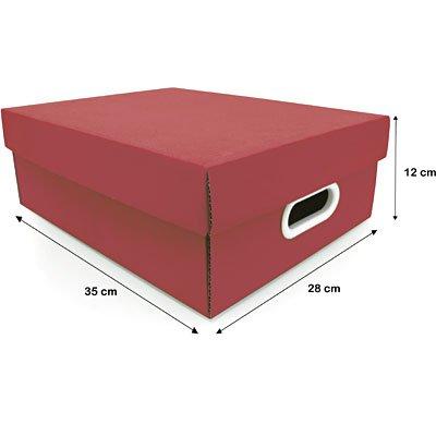 Caixa organizadora Stok vermelha 37x29x13 Boxgraphia PT 1 UN