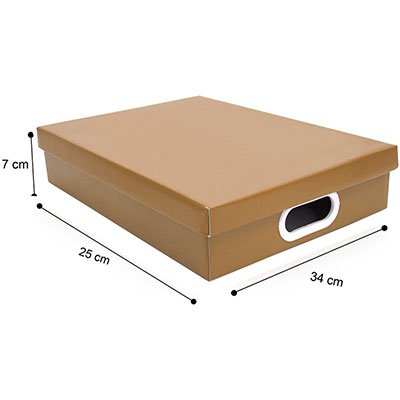 Caixa organizadora retangular A4 kraft 34x25x7 Boxgraphia PT 1 UN