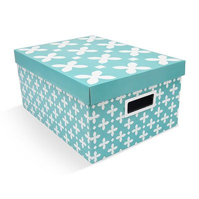 Caixa organizadora closet 30,5x42x20 flor de  liz Boxgraphia CX 1 UN