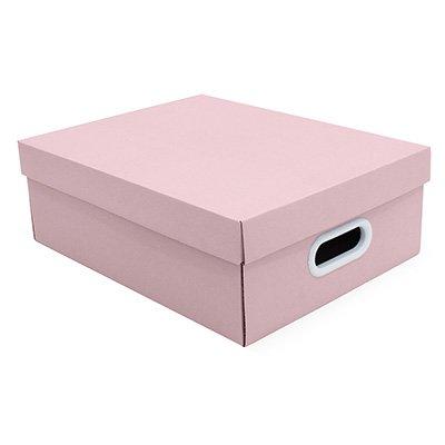 Caixa organizadora Stok rosa 37x29x13 Boxgraphia CX 1 UN