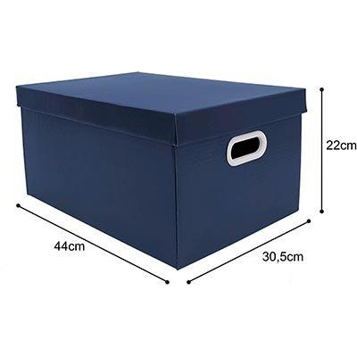Caixa organizadora pratika azul 45,5x31,5x23 Boxgraphia PT 1 UN