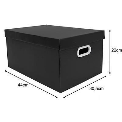 Caixa organizadora pratika preta 45,5x31,5x23 Boxgraphia PT 1 UN