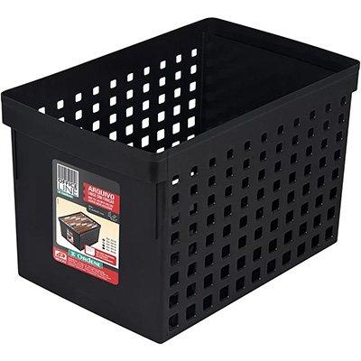 Arquivo médio preto p/pastas suspensas 70122 Ordene PT 1 UN