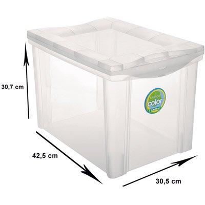 Caixa organizadora média alta cristal 30L 21201 Ordene PT 1 UN