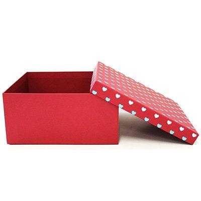 Caixa para presente 19,4x19,4x9,2cm coração P 990010011 Kawagraf PT 1 UN