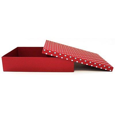 Caixa para presente 35x25x7,5cm coração M 990010016 Kawagraf PT 1 UN