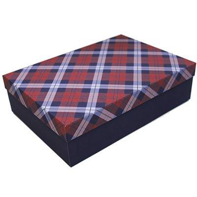 Caixa para presente 33,5x23,5x9cm xadrez M 990010448 Kawagraf PT 1 UN