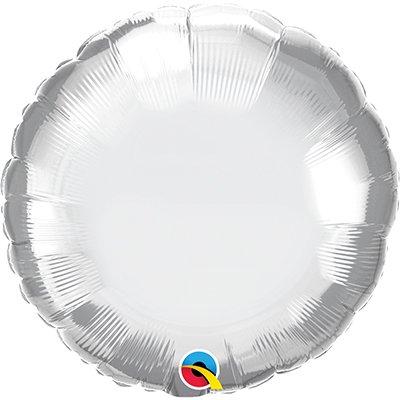 Balão de microfoil 46cm redondo prata cromado 89982 Qualatex PT 1 UN