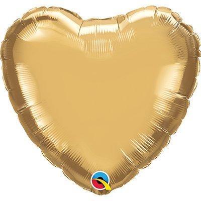 Balão de microfoil 46cm coração ouro cromado 90039 Qualatex PT 1 UN