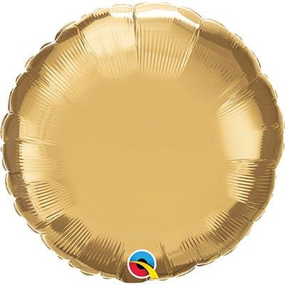 Balão de microfoil 46cm redondo ouro cromado 89998 Qualatex PT 1 UN