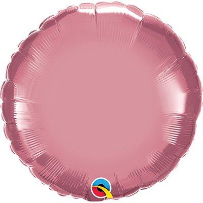 Balão de microfoil 46cm redondo rose cromado 90024 Qualatex PT 1 UN