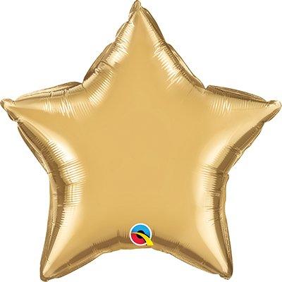 Balão de microfoil 51cm estrela ouro cromado 90058 Qualatex PT 1 UN