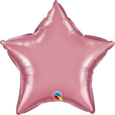 Balão de microfoil 51cm estrela rose cromado 90077 Qualatex PT 1 UN