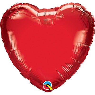 Balão de microfoil 45,7cm Coração vermelho rubi 99594 Qualatex PT 1 UN