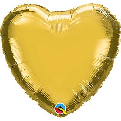 Balão de microfoil 45,7cm Coração ouro 99597 Qualatex PT 1 UN
