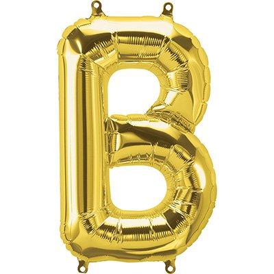 "Balão de microfoil 40,6cm letra ""B"" ouro metal. 59436 Northstar PT 1 UN"