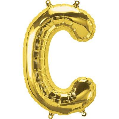 "Balão de microfoil 40,6cm letra ""C"" ouro metal. 59438 Northstar PT 1 UN"