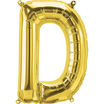 "Balão de microfoil 40,6cm letra ""D"" ouro metal. 59440 Northstar PT 1 UN"