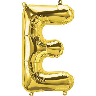 "Balão de microfoil 40,6cm letra ""E"" ouro metal. 59442 Northstar PT 1 UN"