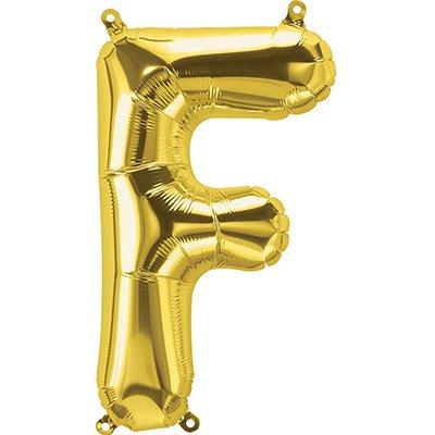 "Balão de microfoil 40,6cm letra ""F"" ouro metal. 59506 Northstar PT 1 UN"