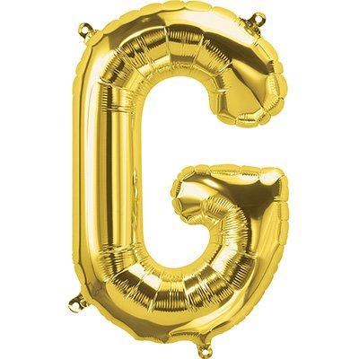 "Balão de microfoil 40,6cm letra ""G"" ouro metal. 59508 Northstar PT 1 UN"