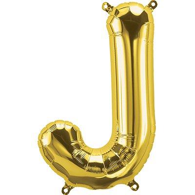 "Balão de microfoil 40,6cm letra ""J"" ouro metal. 59514 Northstar PT 1 UN"