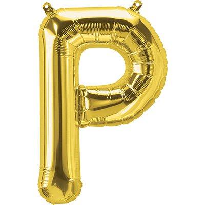 "Balão de microfoil 40,6cm letra ""P"" ouro metal. 59526 Northstar PT 1 UN"
