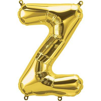 "Balão de microfoil 40,6cm letra ""Z"" ouro metal. 59546 Northstar PT 1 UN"