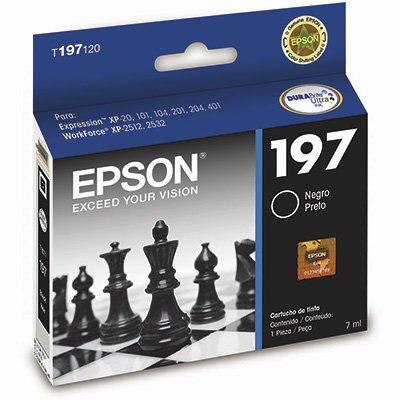 Cartucho p/stylus preto T197120-AL Epson CX 1 UN