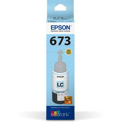 Garrafa para Ecotank L800 ciano claro T673 - T673520AL - Epson CX 1 UN