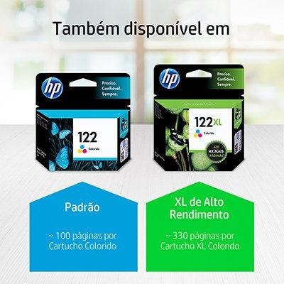 Cartucho HP 122 Colorido Original (CH562HB) Para HP DeskJet 1000, 2050, 3050, 2000 CX 1 UN
