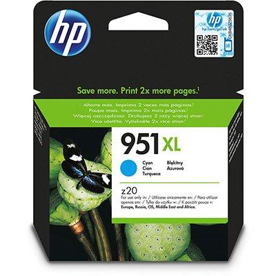 Cartucho HP 951XL Cian Original (CN046AB) Para HP Officejet Pro 8600, 8600 Plus, 8610, 8620, 276dw, 8100, 251dw CX 1 UN