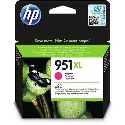 Cartucho HP 951XL Magenta Original (CN047AB) Para HP Officejet Pro 8600, 8600 Plus, 8610, 8620, 276dw, 8100, 251dw CX 1 UN