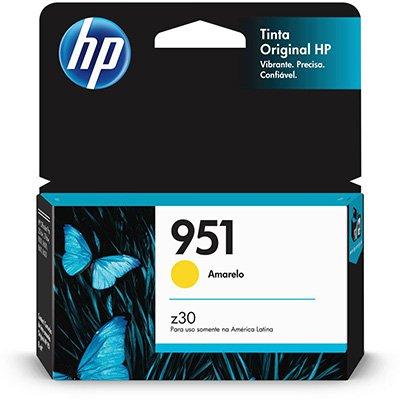 Cartucho HP 951 Amarelo Original (CN052AB) Para HP Officejet Pro 8600, 8600 Plus, 8610, 8620, 276dw, 8100, 251dw CX 1 UN