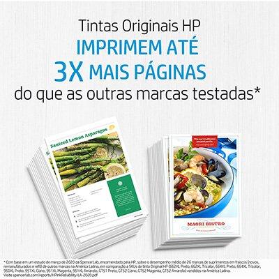 Cartucho HP 664 preto Original (F6V29AB) Para HP Deskjet 2136, 2676, 3776, 5076, 5276 CX 1 UN