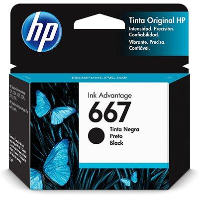 Cartucho HP 667 preto 3YM79AL HP CX 1 UN