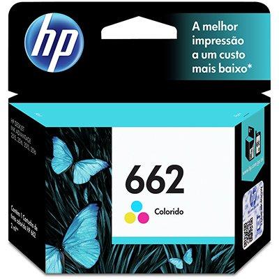 Cartucho HP 662 Colorido Original (CZ104AB) Para HP DeskJet 2516, 3516, 3546, 2546, 1516, 4646, 2646 CX 1 UN