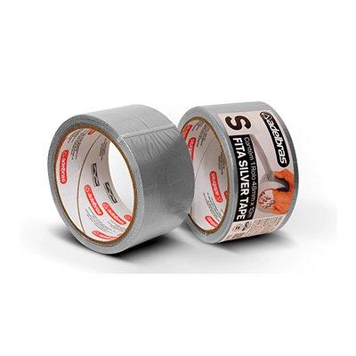 Fita adesiva multiuso 48mmx10m prata Adelbras PT 1 UN