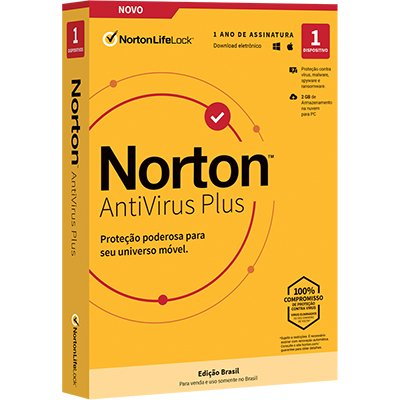 Norton Antivírus Plus 1 dispositivo, Licença 12 meses, NortonLifeLock - CX 1 UN