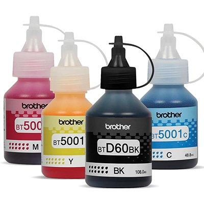 Refil p/ InkTank magenta, amarelo, preto e ciano BT5001C - Brother CX 1 UN